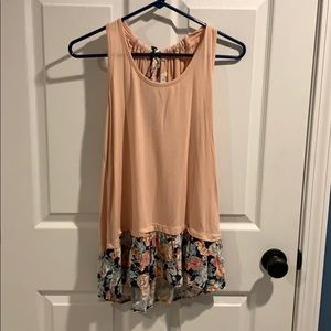 ModCloth pink and floral tank top